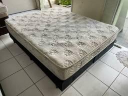 cama LATEX BOX QUEEN SEMI NOVA