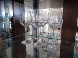 Conjunto taças vinho - cristal