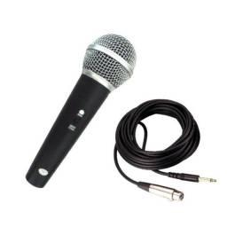 (WhatsApp) microfone dinâmico profissional c/ fio - m58 -wvngr