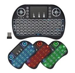 (NOVO)Mini Teclado Wifi Keyboard Controle com Touchpad Backlit LED - MWKI8