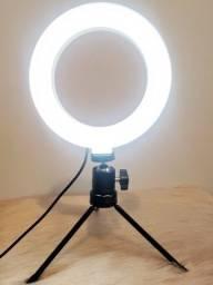 Ring Light Led 6 Polegadas 16cm Mesa Com Tripé de Mesa - Promoção