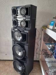 Conjunto 5 caixas de som sony