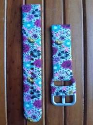 Pulseira silicone floral para Galaxy Watch