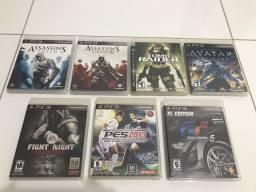 7 games de PS3 originais por R$175,00