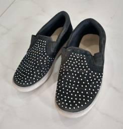 Sapato Slip On Infantil Feminino USADO