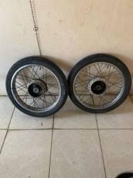 Par Roda raiada fan 150 freio a tambor