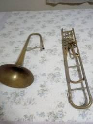Trombone Cerveny 4 rotores em Si bemol