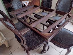 Mesa de jantar antiga de jacaranda