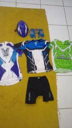 Kit roupa ciclismo