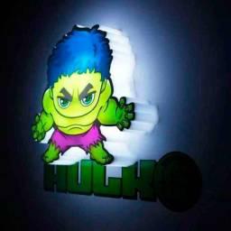Parcele Em 3X Sem Juros Luminária 3d Marvel Vingadores - Hulk Promocao