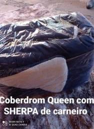 VENDO Coberdrom Queen com Sherpa de carneiro
