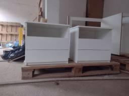 Cômoda de Cabeceira em MDF Branco qualidade barato 150 cada