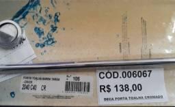 Deca Porta-Toalha barra c/0,60cm cromada,modelo evidence