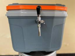 Combo chopeira à gelo + barril 30 litros + válvula extratora