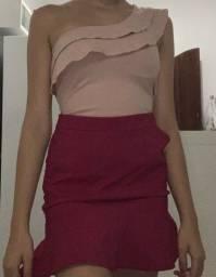 saia e blusa