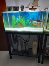 Aquario 200litros em funcionamento...
