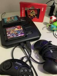 Mega Drive 3 com 2 Controles e 3 games