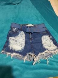 Short jeans tamanho 42 novo