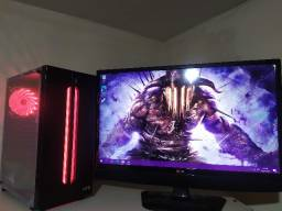 PC Gamer Novo: Gpu: RX 550 4GB|Cpu AMD 3.5Ghz|SSD240GB|8GB Rgb|Fonte 500W|C/ Games!