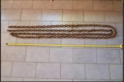 Corrente De Aço 6m de comprimento elos de 8,8mm diametro