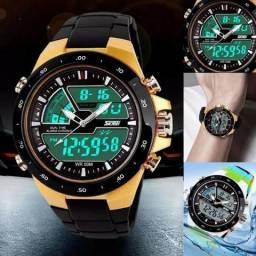 Relógio Esportivo Masculino Skmei Analógico / Digital Alarme Prova D'Água