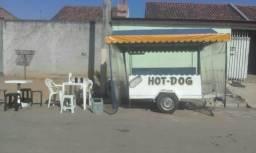 Carrinho de hot dog completo