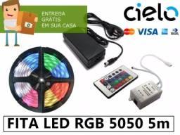 Fita Led Rgbw 5050 Original, 5m, controle, fonte 12v (entrego ac, cartão)