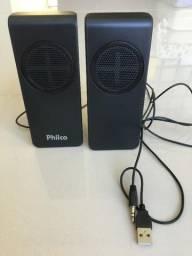 Caixa de som 2.0 Canais para PCs e Notebooks