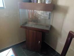 Vendo Aquario com movel de madeira e acessórios