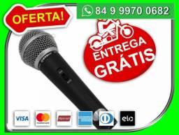 Microfone Profissional Musical M-58 Dinamico C/ Cabo 5m motoboy de graça