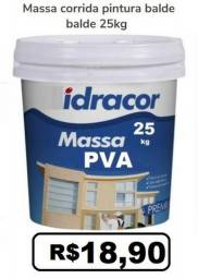 Massa corrida PVA interna balde plastico tinta construção 25kg