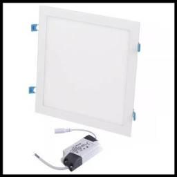 Título do anúncio: Plafon Luminária Led Quadrado Embutir 30x30 24W - Mega Infotech