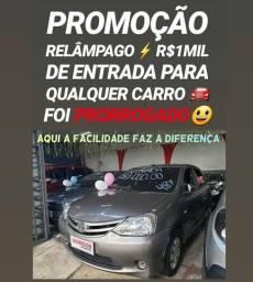 Toyota/ETIOS X 1.3 2017 AUTOMÁTICO(R$1MIL DE ENTRADA)SHOWROOM AUTOMÓVEIS