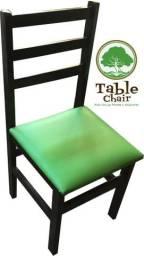 Conjunto de mesa redonda com cadeiras