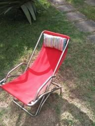 Cadeira espreguiçadeira lona