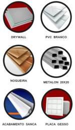 Instalação  de forro pvc , drywall e placas de gesso.