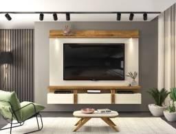 Painel Suspenso Lodi com lâmpadas de LED p/ TV até 70' - Entrega Grátis