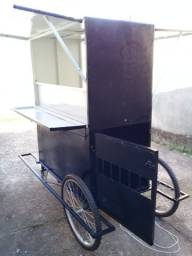Mini trailer, carrinho de lanche, food truck.