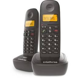 Telefone Sem Fio Intelbras TS 2512 Identificador de Chamadas, Preto