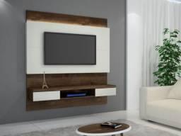 Painel Gálio com LED e suporte de TV Incluso até 56' - Entrega Grátis