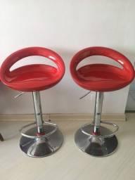 Baqueta giratória vermelha