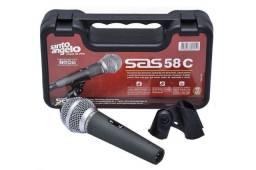 Microfone Sas 58 C Sas58c Santo Angelo Impecável Menor Preço