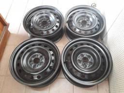Jogo de rodas aro 15 de ferro Corolla (Toyota) 5x100