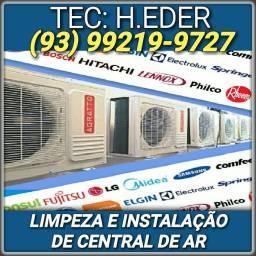Refrigeração - limpeza e instalação de central de ar - Disponível