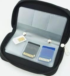Case Capa Bolsa Porta Cartão De Memória Sd, Sdhc, Micro,cf Foto Câmera Promoção