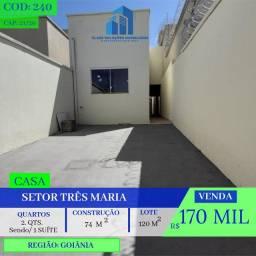 Casa De 2 Quartos - Setor Três Marias - Goiânia