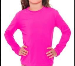 Camisa UV Infantil Poliéster - unissex