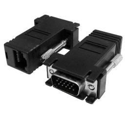 Adaptador Conversor VGA para RJ45 - (DB15 fêmea x RJ45 fêmea) - Extensor