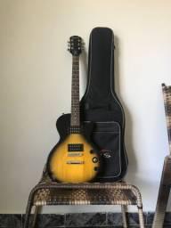 Vendo Guitarra Epiphone Les Paul Special Vintage Sunburst com a capa