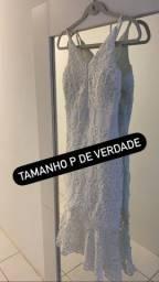 Vestido em Renda branco com elastano